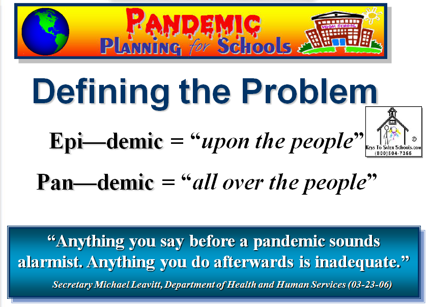 Pandemic Planning for Schools
