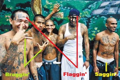 Gang members - saggin', flaggin', braggin'