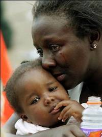 Mother going through Katrina