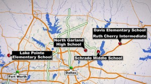 Schools Affected Around Dallas/Fort Worth