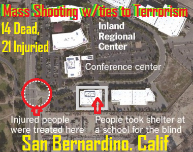 San Bernardino Mass Shooting w/ Ties to Terrorism – 14 Dead, 21 Injured & 2 Gunmen Dead: Vol. 160