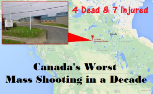Canada School Shooting map